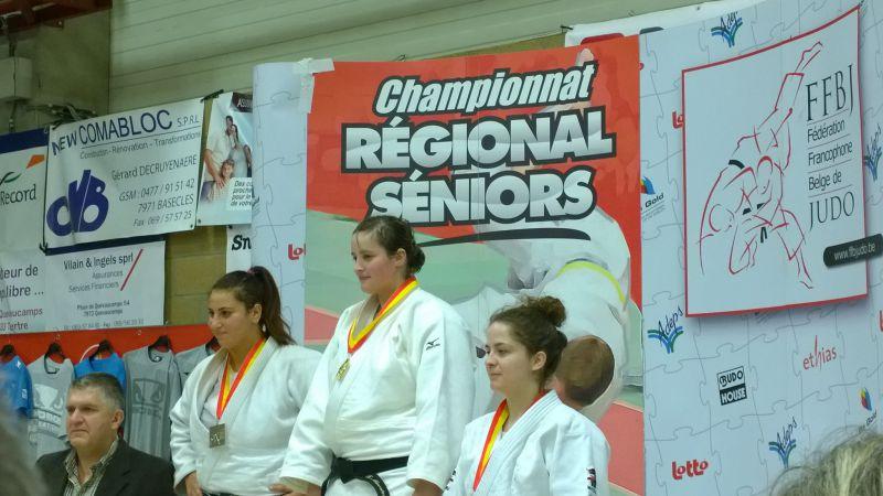 FREDERIQUE MAERTENS/CHAMPIONNE REGIONALE SENIORS +78Kgs/BASECLES/19 OCTOBRE 2014